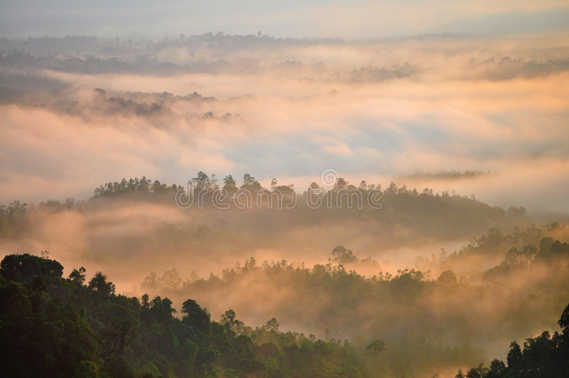 Lever de soleil de matin image libre de droits