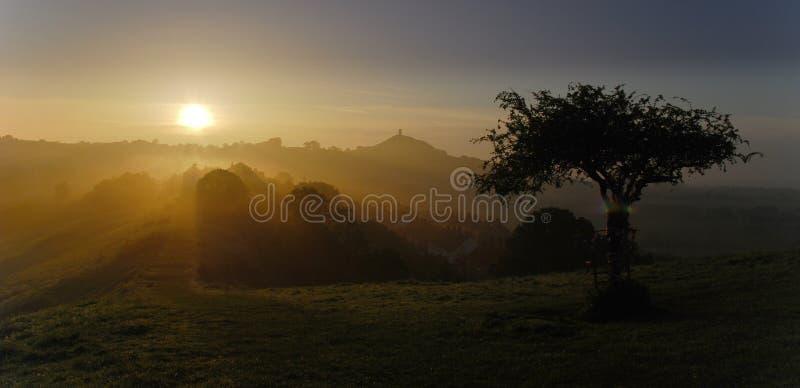 Lever de soleil de matin d'Avalon images libres de droits