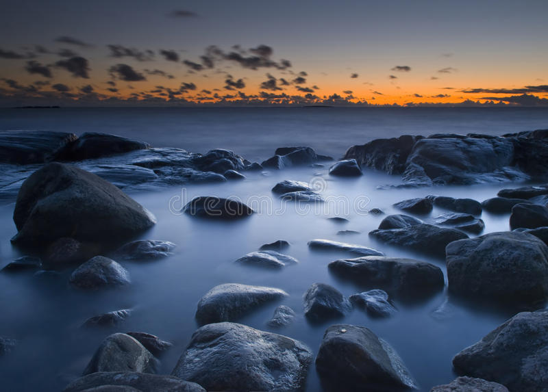 Lever de soleil de mer image libre de droits