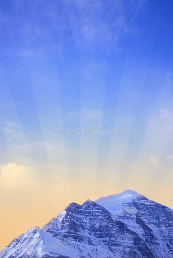 Lever de soleil de montagne images stock
