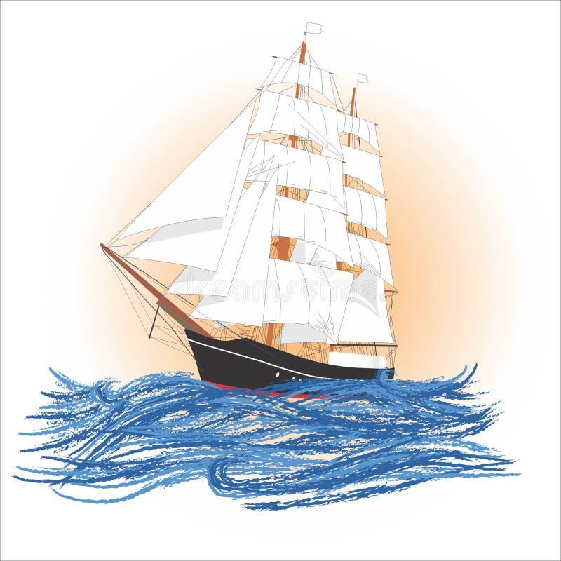 lever de soleil de navigation de bateau image stock
