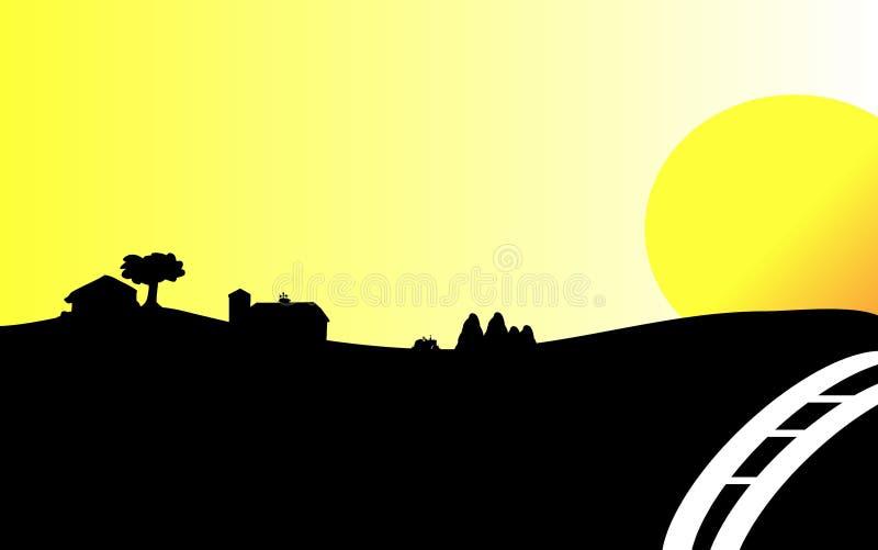 Lever de soleil de pays images stock