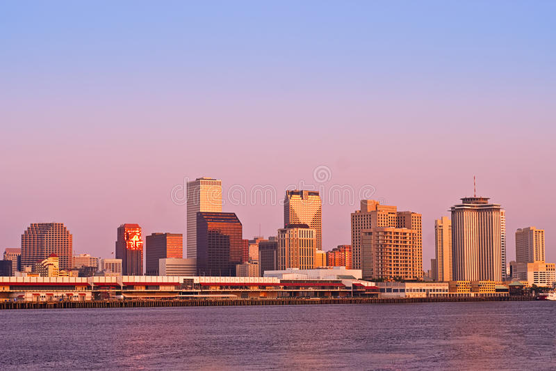 Lever de soleil de paysage urbain de la Nouvelle-Orléans photos libres de droits