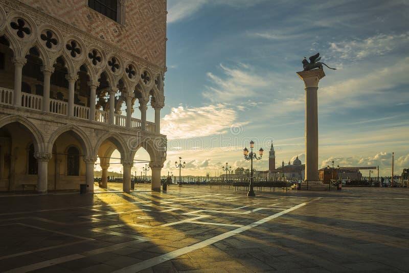 Lever de soleil de place du ` s de St Mark photo libre de droits
