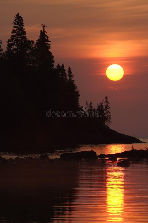 Lever de soleil de port de Chippewa photographie stock
