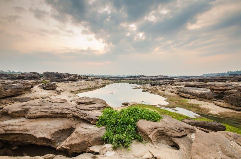 Lever de soleil de sampanbok images libres de droits