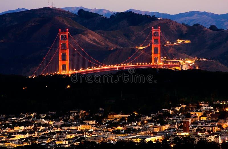 Lever de soleil de San Francisco images stock