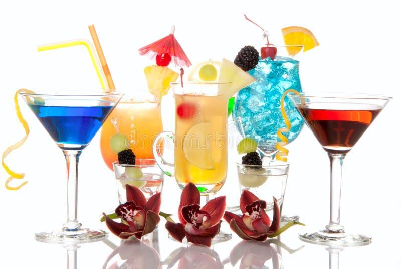 Lever de soleil de Tequila de Martini de cocktails, hawaïen images libres de droits