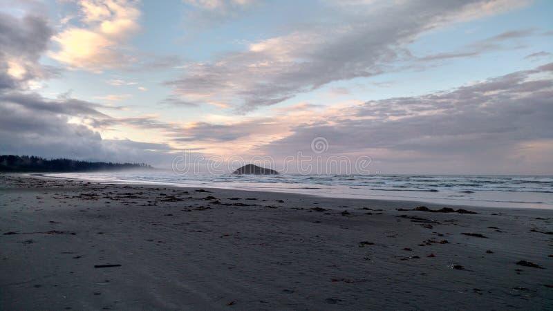 Lever de soleil de Tofino photographie stock