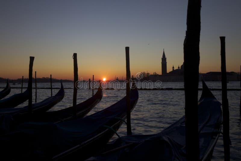 Lever de soleil de Venise photos libres de droits