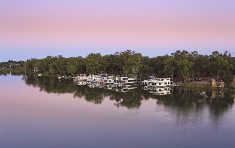 Lever de soleil de VIC Mildura Murray Pink image stock
