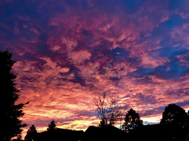 Lever de soleil de Denver photo stock