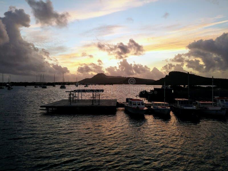 Lever de soleil des Caraïbes photos libres de droits