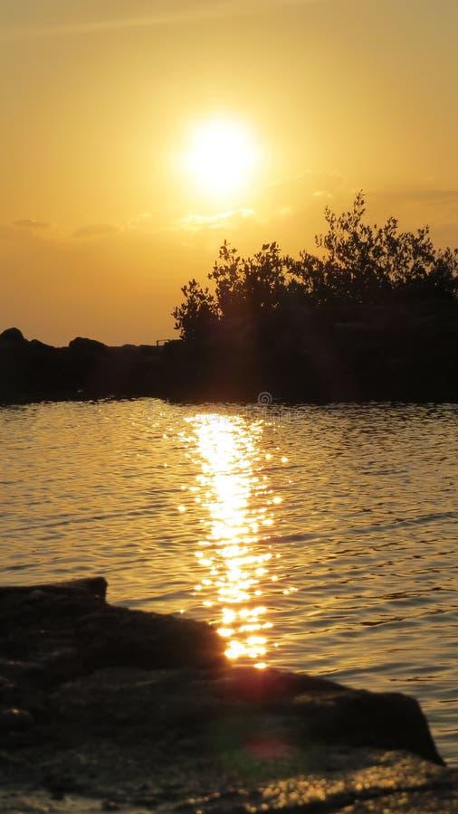 Lever de soleil du Mexique images stock