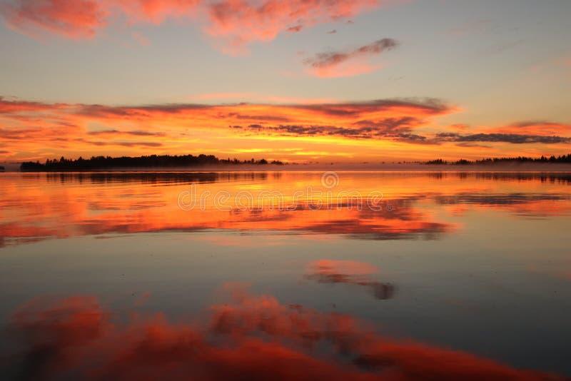 Lever de soleil du nord du Wisconsin photographie stock libre de droits