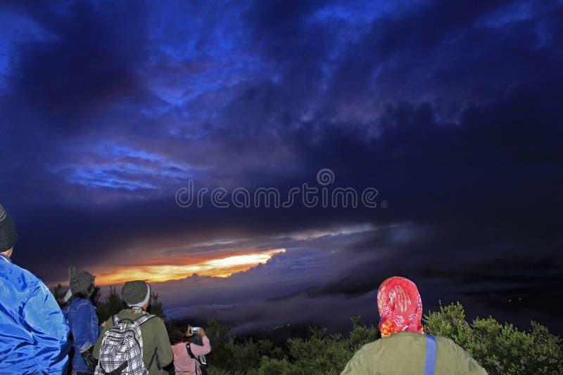 Lever de soleil du ` s de Bromo images libres de droits