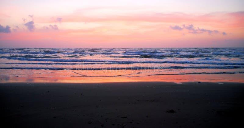 Lever de soleil du sud 3 d'île de Padre images libres de droits