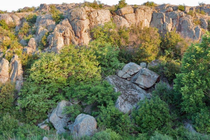 Lever de soleil en canyon d'Aktove photo libre de droits