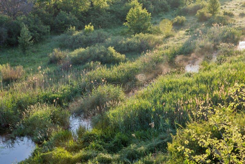 Lever de soleil en canyon d'Aktove photos stock