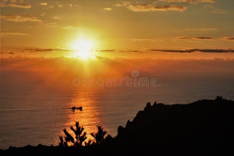 Lever de soleil en Corée image stock