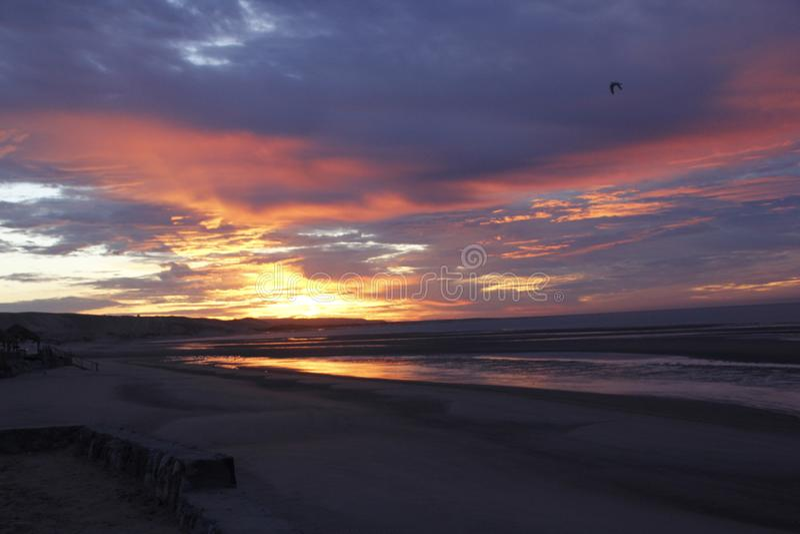 Lever de soleil en EL Golfo De Santa Clara, Sonora, Mexique photos libres de droits