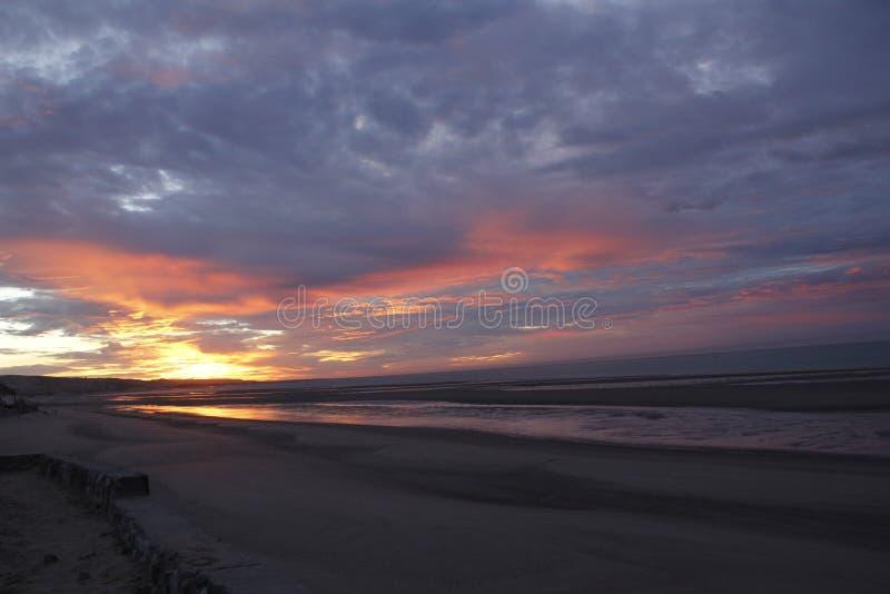 Lever de soleil en EL Golfo De Santa Clara, Sonora, Mexique image stock