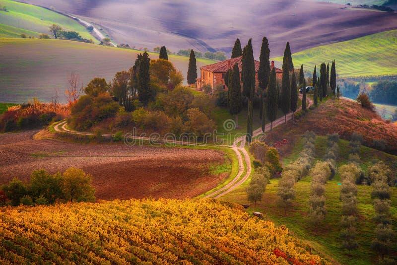 Lever de soleil en Italie images libres de droits