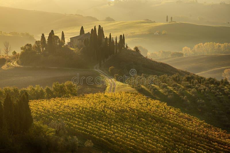 Lever de soleil en Italie image libre de droits