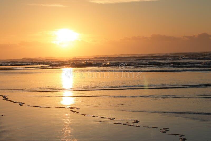 Lever de soleil en Morgan Bay Eastern Cape South Afrique photos libres de droits