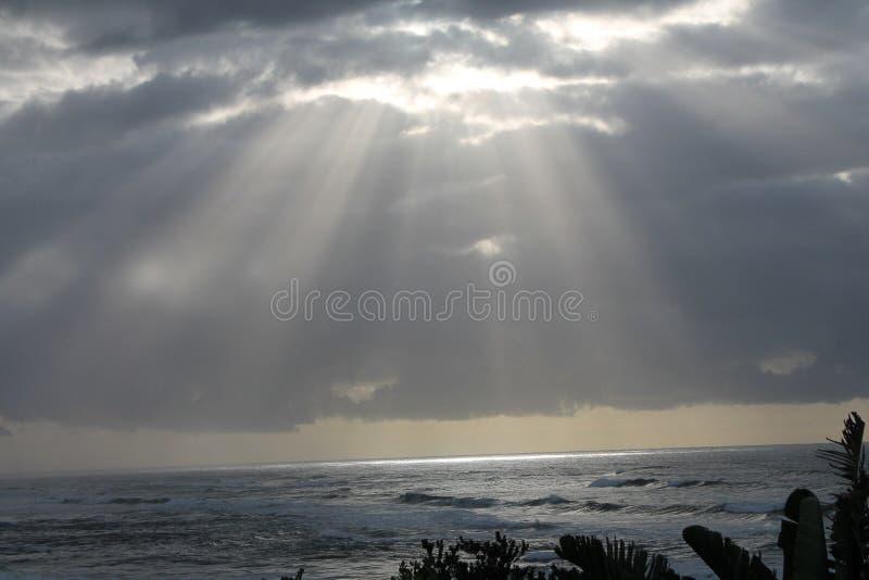 Lever de soleil en Morgan Bay Eastern Cape South Afrique photographie stock libre de droits