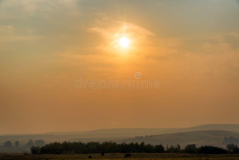 Lever de soleil flou photos stock