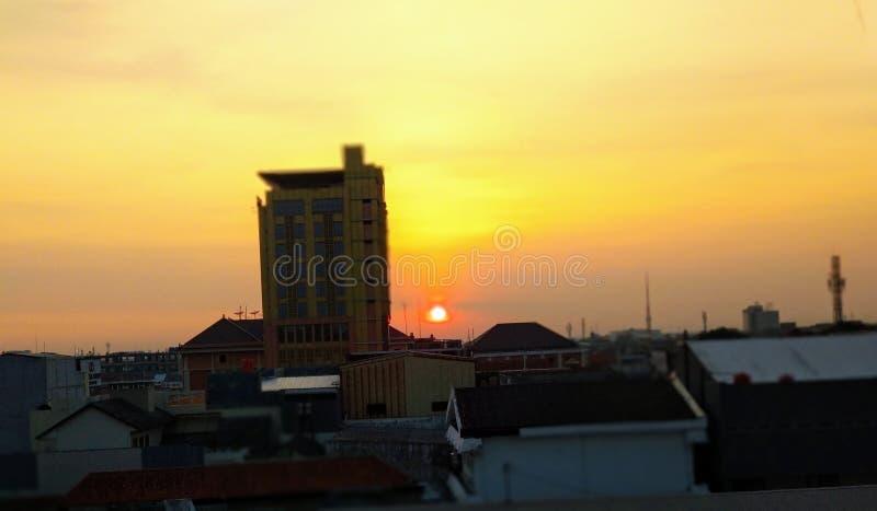 Lever de soleil Java de matin photo stock