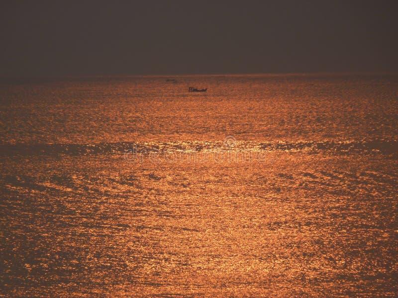 Lever de soleil l'Océan Atlantique Santa Catarina images stock