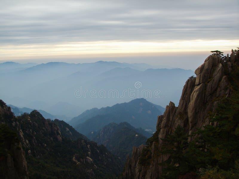 Lever de soleil de la Chine Huangshan image stock
