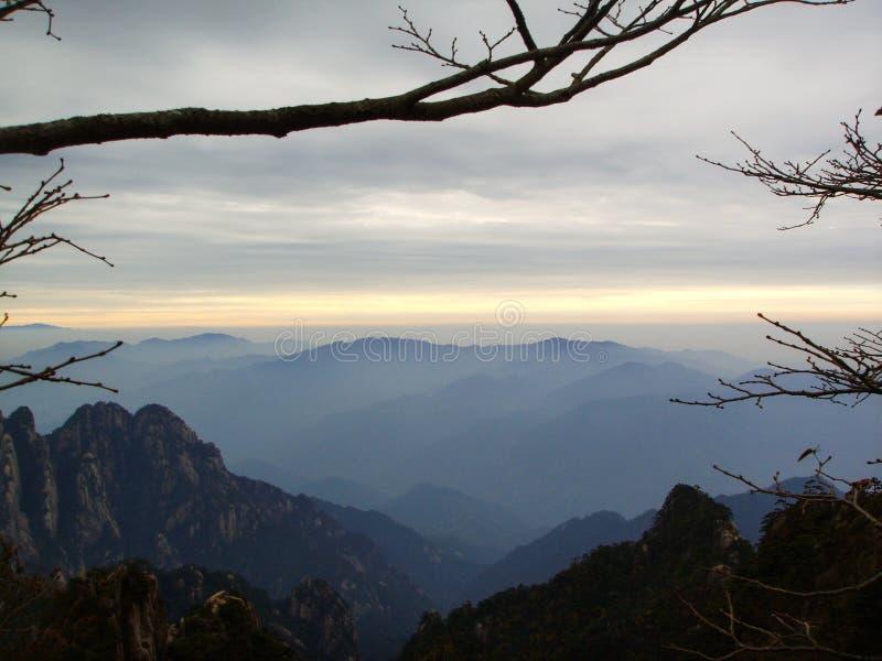 Lever de soleil de la Chine Huangshan photo libre de droits