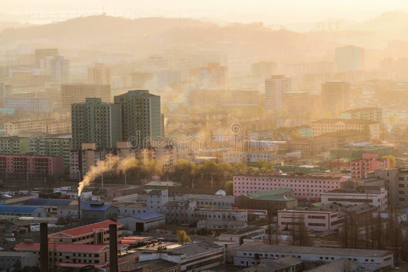 Lever de soleil de la Corée du Nord photos stock