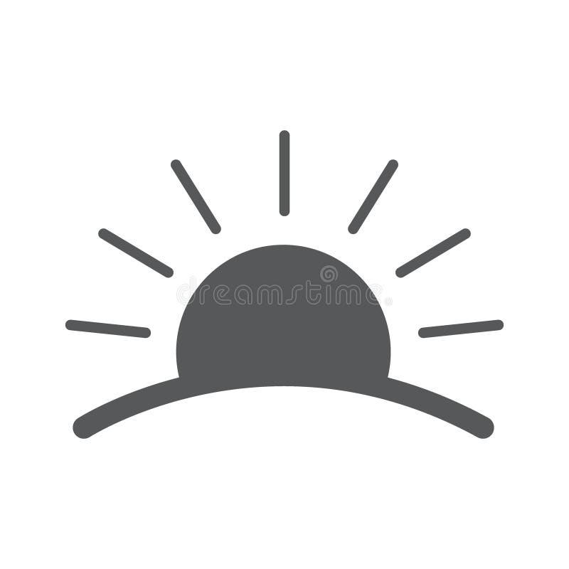 Lever de soleil Logos de vecteur illustration libre de droits