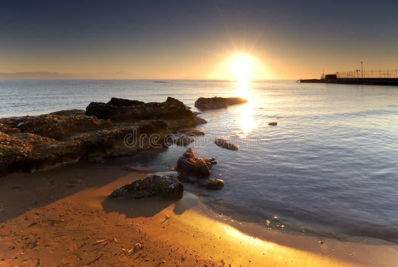 Lever de soleil méditerranéen image stock