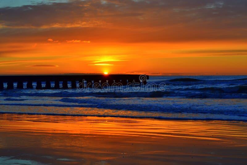 Lever de soleil renversant de Mer Adriatique photographie stock