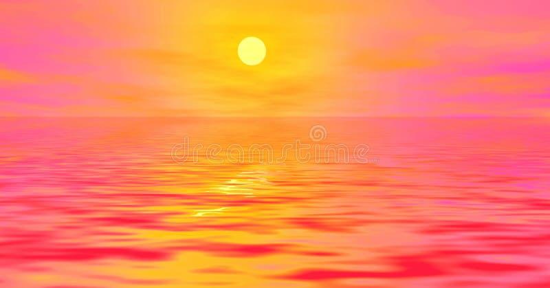 Lever de soleil rose illustration libre de droits
