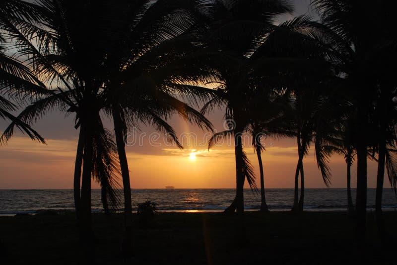 Lever de soleil, San Blas photographie stock libre de droits