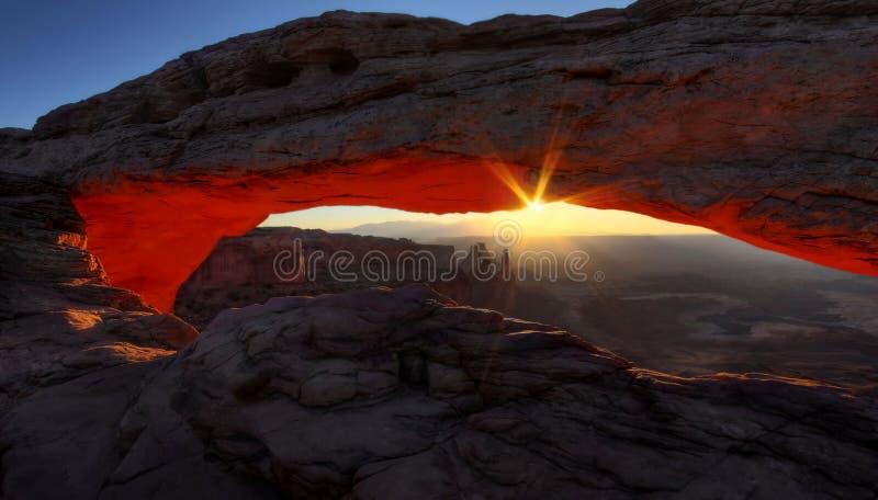 Lever de soleil stupéfiant au MESA photo stock