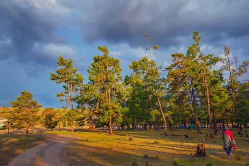 Lever de soleil sur l'île d'Olkhon photo stock