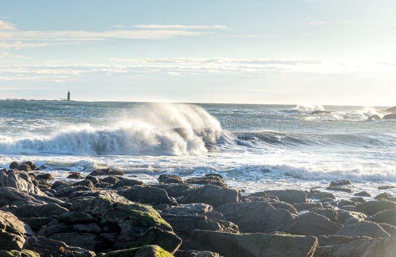 Lever de soleil sur la côte du Maine photo libre de droits