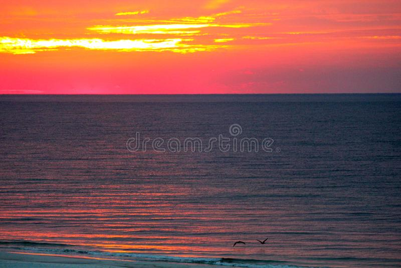 Lever de soleil sur le Golfe photos libres de droits