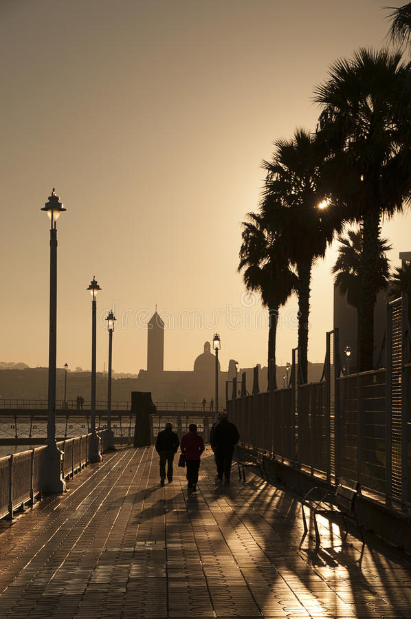 Lever de soleil sur le pilier photo libre de droits