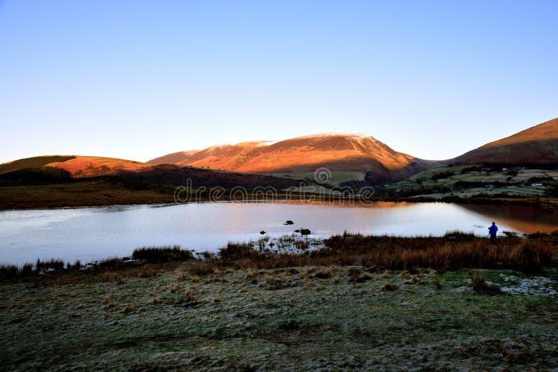 Lever de soleil sur Skiddaw et Latrigg photographie stock