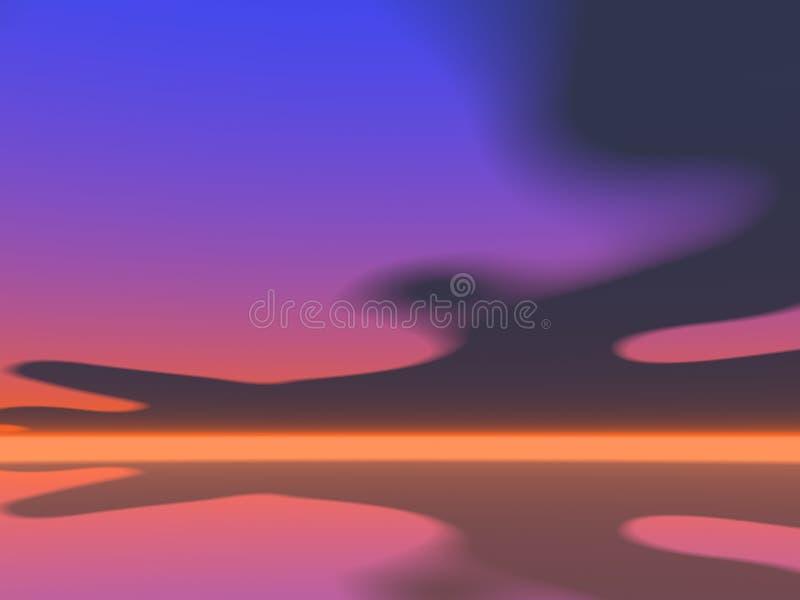 Lever de soleil surréaliste illustration de vecteur