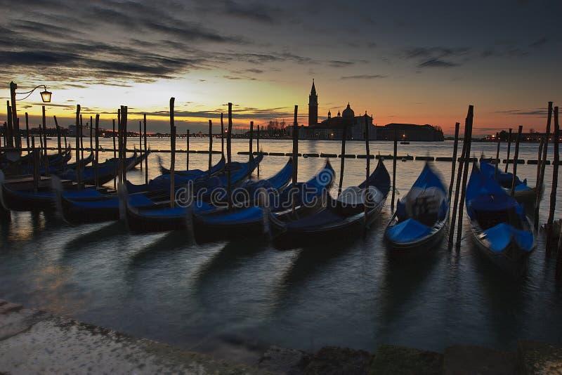 lever de soleil Venise image stock