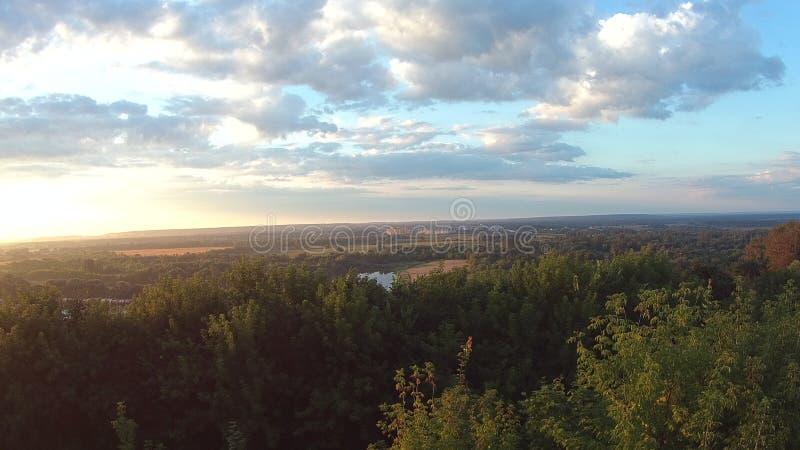 Lever de soleil Ville Vladimir, Russie photo stock
